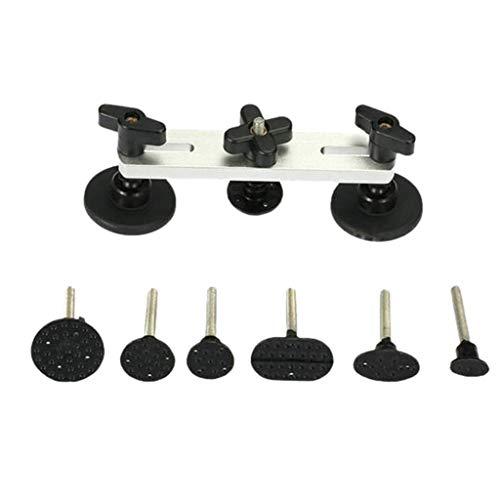 GreatFun Autokörperreparatursatz, Paintless Dent Repair Puller Bridge-Autokörper-Hageldellenentfernungswerkzeug Kleinere Dellenentfernung - Schwarz (Tür Puller)