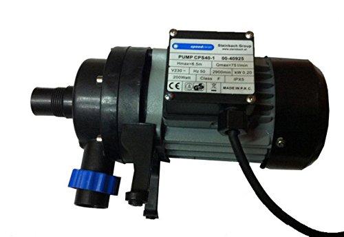 Steinbach 040925 Sandfilteranlagenzubehör Filterpumpe CPS 40-1, Schwarz, 75 l/min / 200 W / 230 V
