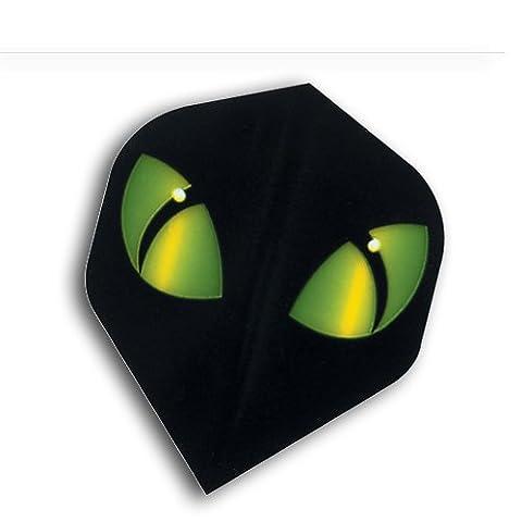 F6008 Green Eyes Polymet ailettes de flechettes - 4 jeux par paquet (12 vols au total)