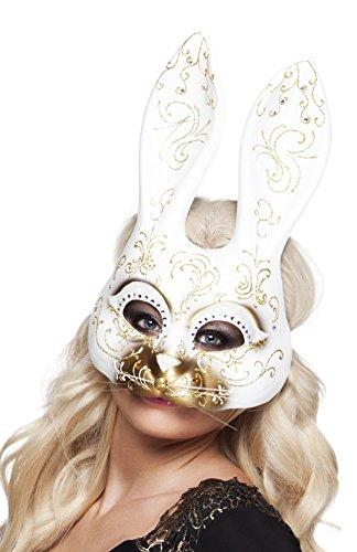 Augen Vogel Make Kostüm Up (Confettery - Fasching Gold Hasenmaske ,)