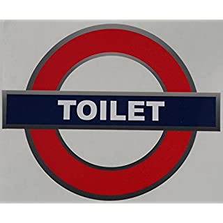 Self-adhesive Tube Style Toilet sticker sign (180x150 mm)