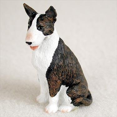 Bull Terrier Miniature Dog Figurine - Brindle by Conversation Concepts