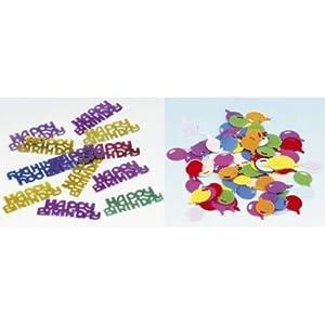 Amscan-500034-confeti Happy Birthday modelo aleatorio-15G