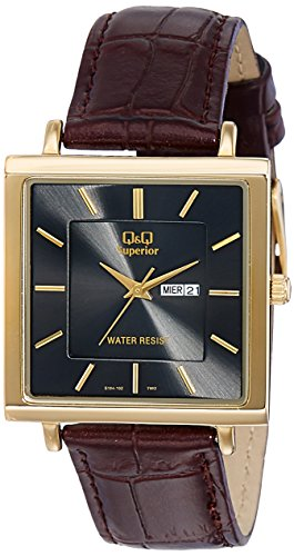 Q&Q Day and Date Analog Black Dial Men's Watch - S194-102Y image