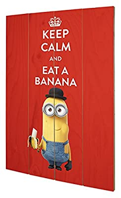 Pyramid International sw11569p Minions (Keep Calm) murale en bois en bois Multicolore 40 x 2,5 x 59 cm