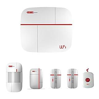 SZABTO komplettes drahtloses GSM Home Security Alarmanlage als Einbruchschutz Sicherheit durch Bewegungsmelder und Türsensoren (D)