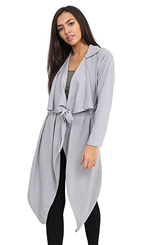 Generic - Gilet - Trench - Uni - Col ouvert - Manches Longues - Femme * gris clair