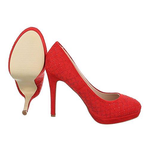 Ital-Design , Escarpins pour femme Rouge
