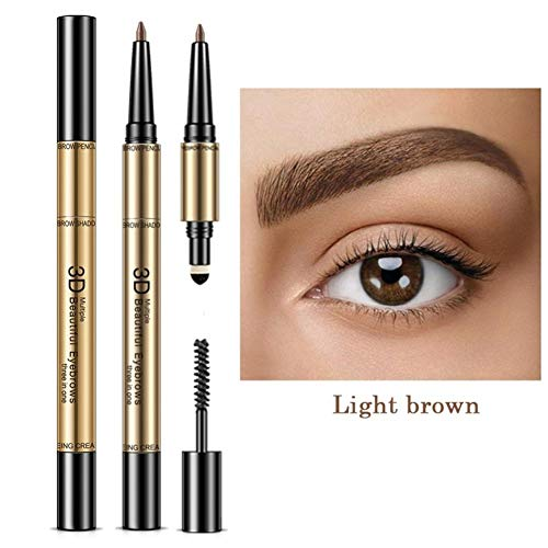 takestop® 3in1 Light Brown 3D Braun Augenbraueneffekt Perfekt mit Mascara OMBRETTO Kamm