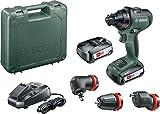 Bosch Akkuschrauber AdvancedDrill 18 Set (2x2,5 Ah Akkus, 18 Volt System, HMI, mit Zubehörteilen, im Koffer)