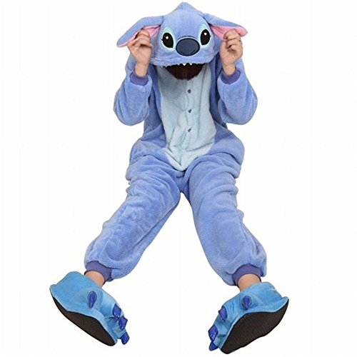 Amour-Sleepsuit Pyjamas Kostüm Cosplay Homeware Lounge Größe passt S/M/L/XL (m, Lilo & Stitch) (Lilo Kostüm Für Erwachsene)