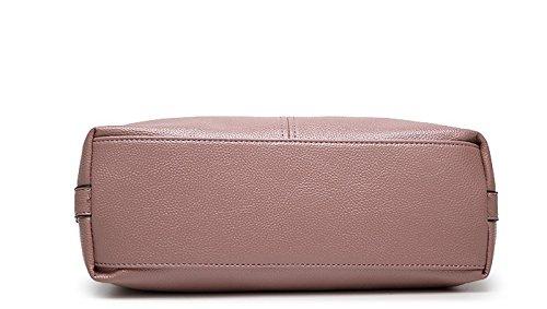 WTUS Damen Modefrauentasche große Tasche Handtasche Europa Schulter Diagonalpaket Weiches Messenger Bags Beuteltote Pink