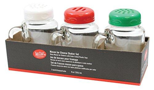 Tablecraft Mason Jar Shaker mit Kunststoff sortiert Tops, 8oz (Mason Shaker Top)
