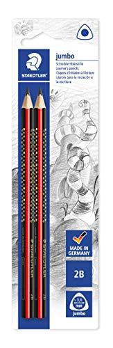 Staedtler 1285 1BK2 Noris Club Jumbo Schreiblernstift, Härtegrad 2B, Blisterkarte mit 2 Stück