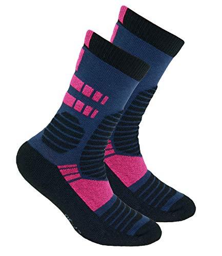 EveryKid Ewers Jungensocken Markensocken Thermosocken Socken Strümpfe Kleinkind Schulkind Teenies ganzjährig Kinder (EW-201068-W18-JU3-9121-31/34) in Tinte Pink, Größe 31/34 inkl Fashionguide