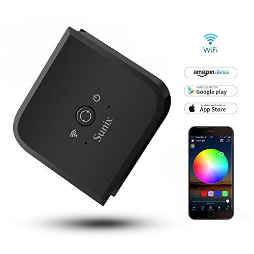 Regulador de tira de luz LED RGB Sunix 12V flexible, control inteligente de 5 canales WiFi (RGB + blanco cálido + blanco frío) DC 12-24V - Control de teléfonos inteligentes iOS o Android - ideal para