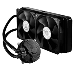 Cooler Master Seidon 240M Liquid CPU Water Cooling System with Copper Heatsink and 240mm Radiator - 2 Fans