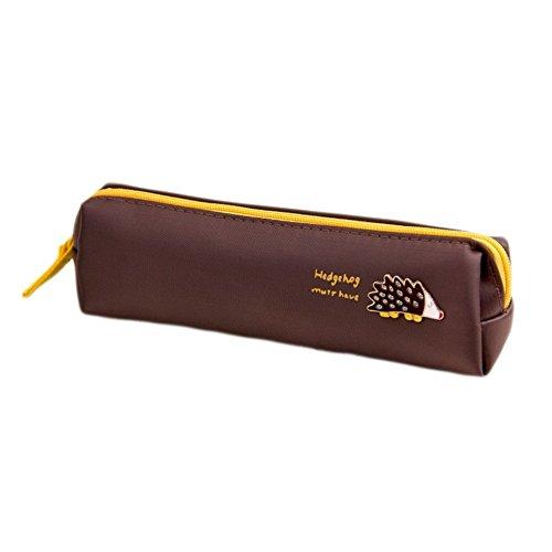 iTemer - Estuche de lona para lápices, diseño de erizos, ideal para mujeres y niñas
