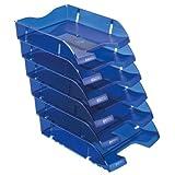 Herlitz 11247244 Ablagekorb A4-C4 space PET-Recylat (  6 Stück im Pack ) flaschenblau transluzent