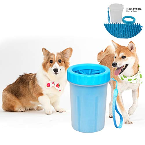 Abnehmbare Kit (Dog Paw Cleaner Washer Cup, tragbare Outdoor-Soft-Silikon-Reinigungsbürste für Hunde Katzen Grooming Kit abnehmbar und waschbar)