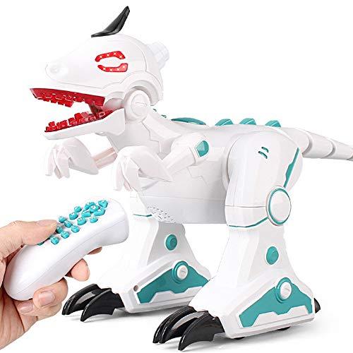 bescita Jurassic World Tyrannosaurus Rex Dinosaurier ,Elektrische Drahtlose Fernbedienung mit Walking & Sounds Funktionen, Spielzeug für Jungs,Partyzubehör,Lernstoffe
