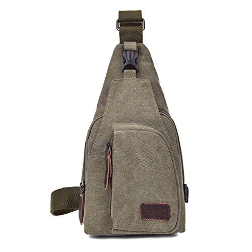 BULAGE Pack Brusttaschen Lässig Männer Sport Leinwand Multifunktionales Im Freien Rucksack Atmosphäre Jian Jie Und Bequem Green