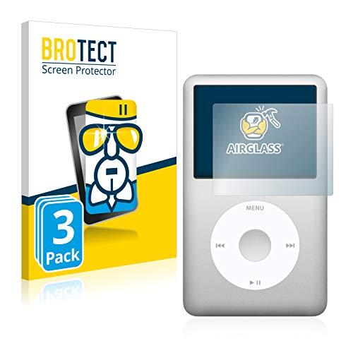 BROTECT Panzerglas Schutzfolie kompatibel mit Apple iPod Classic 160 GB (7. Generation) [3er Pack] - Flexibles Airglass, 9H Härte