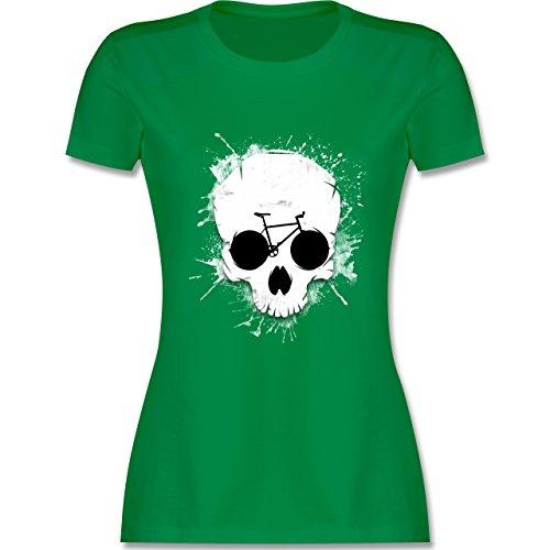 Shirtracer Radsport - Ride or Die - Totenkopf Fahrrad - Damen T-Shirt Rundhals Grün