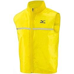 Mizuno, Running Vest Pack, Gilet antivento Running, Uomo, Giallo, L