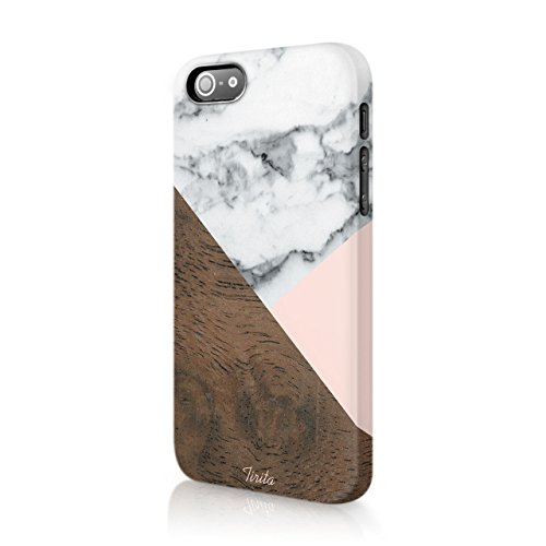 tirita Hard Fall Phone Cover Marmor Holz granit Textur Holz Pastell Collage Geometrische Rustikal trendige Fashion Geschenk Geschenk Cute Design - Holz X Htc Fall One