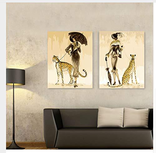 WGXCC Cottage Scenery Pintura al óleo por números DIY Digital Pictures para Colorear por número Lona Marco Peinture Par Numero 50X65cm Pintura por números