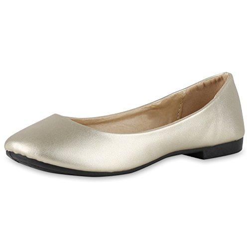 Japado Classic Women Ballerine Flats Lace Crochet Look Leather Optical Slippers Ballerina Shoes Metallic Grind Sequin Gold