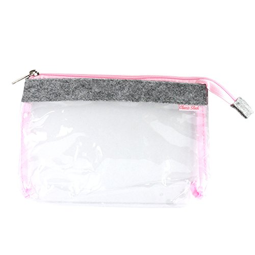 Transparenter Kulturbeutel für Reise Handgepäck - 1l Kosmetiktasche durchsichtig für Flüssigkeiten - Im Handgepäck erlaubt - hellgrau