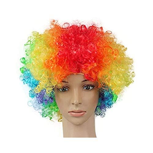 drawihi 1pc LED lampeggiante ardore copertura della testa wehende testa riccia parrucca della parrucca del pagliaccio di Halloween della decorazione di disegno del partito parrucca
