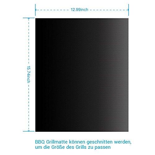 41%2BkYF8GJpL - BBQ Grillmatte (3er Set) – iLOME Teflon Antihaftbeschichtung Grillmatte für Holzkohle Grill, elektronisches Grill, Backofen, Dampf-Backofen, Mikrowelle, etc. 33x40CM