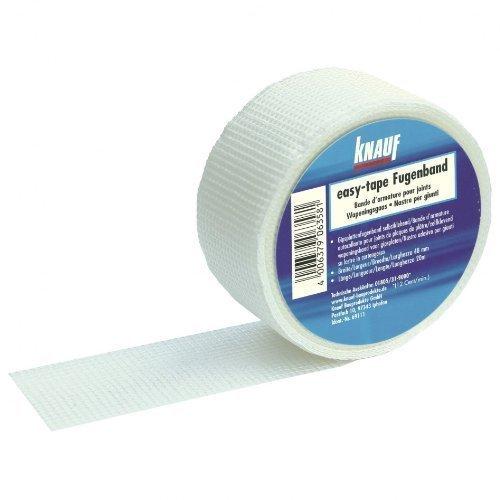 5 Rollen KNAUF easy-tape Fugenband Fiberglas Glasfaser selbstklebend 48mm x 45m