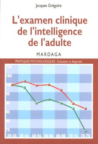 L'examen clinique de l'intelligence de l'adulte: Pour une meilleure interprétation des résultats des tests d'intelligence (Pratiques psychologiques)