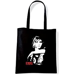 Art T-shirt, Borsa Shoulder Emma Marrone, Nero
