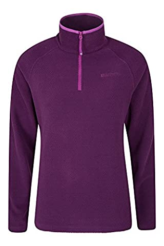 Mountain Warehouse Juniper Women's Fleece - Breathable, Quick Drying, Lightweight & Antipill Fabric with Soft Touch Fleece Design - Great for Layering Purple 10