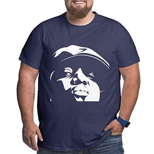 Eivan Herren T-Shirt Biggie Smalls Large Size Rundhalsausschnitt Baumwolle Kurzarm Shirt Gr. 6XL, Navy