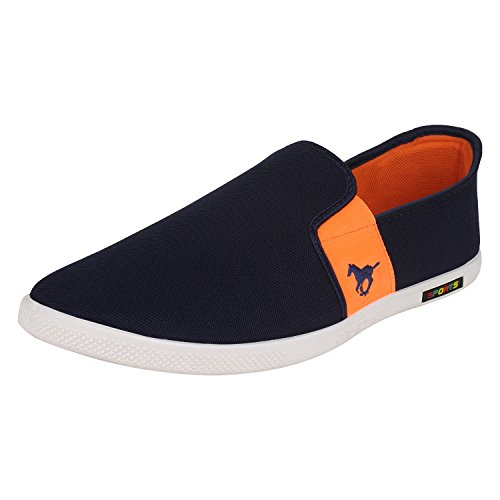Bersache Men's Blue Canvas Loafers & Mocassins (8 uk)  available at amazon for Rs.198