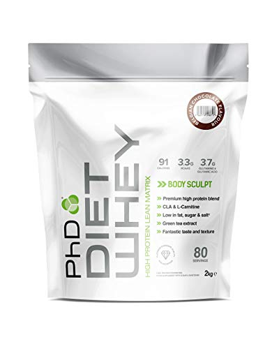 PhD Nutrition Diet Whey Protein Powder, 2 kg, Belgian Chocolate