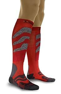 X-Socks Chaussettes de ski Fonction Precision, Mixte, rot