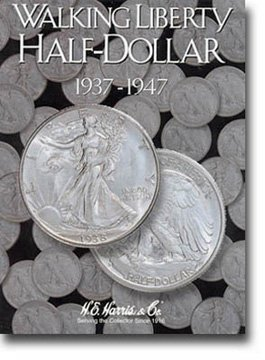 Harris Coin Folder - Liberty Walking Half Dollars #2 1937-1947 #8HRS2694 by H.E. Harris