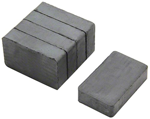 first4magnets F02510-5 40 x 25 x 10 mm Thick Y30BH Ferrite Magnet with 3 kg Pull (Pack of 5) Test