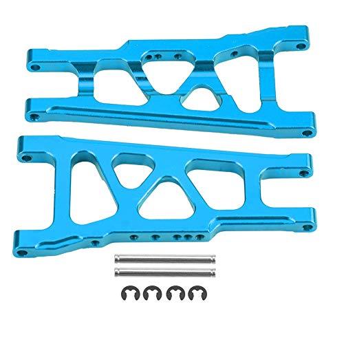 Dilwe RC Auto Querlenker, Aluminiumlegierung Vorne Hinten Universal Querlenker für Traxxas Slash 1/10 Skala RC Auto Upgrade RC Auto Zubehör( Blau)