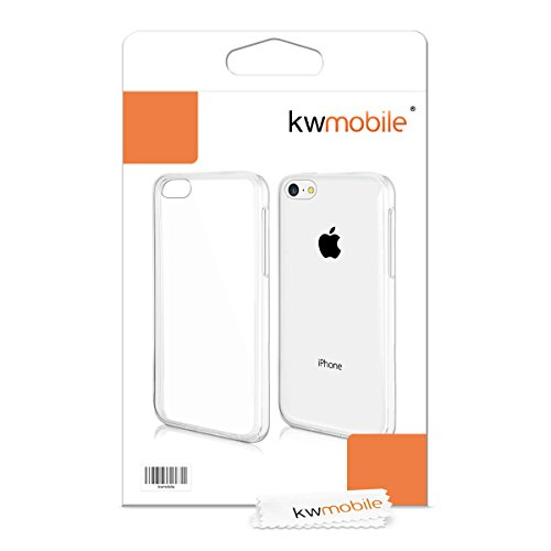 kwmobile Hülle für Apple iPhone 5C - TPU Silikon Backcover Case Handy Schutzhülle - Cover klar Zwei Farben Design Pink Blau matt .Transparent