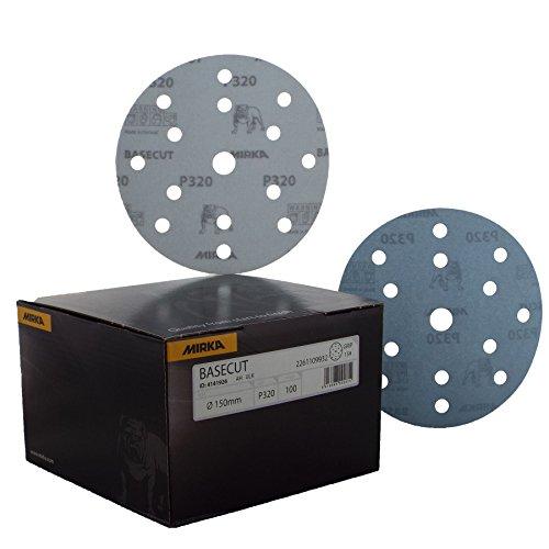 Mirka Basecut Haken 'n 'loop Hookit 150mm/15,2cm Schleifscheiben–Box 10015,2cm...