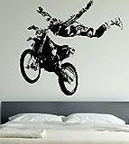 Motocross, vélo, sports extrêmes, Sticker mural, Art Mural, moteur, Giant, grand, En Vinyle,, 129cm (W) X 120cm (H) - Extra Large