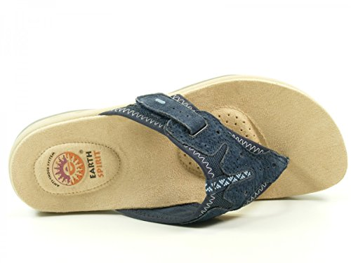 Earth Spirit 37019-15 Iowa Infradito donna Blau